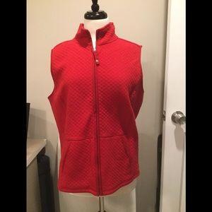 Red sleeveless vest